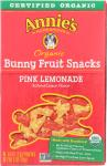 Annie's Homegrown: Organic Bunny Fruit Snack Pink Lemonade, 4 Oz