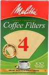 Melitta: Coffee Filter Brown No. 4, 100 Pc
